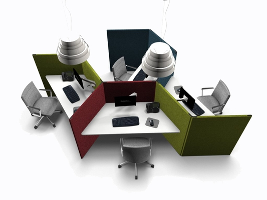 mobilier call center cloison acoustique actiu link burama