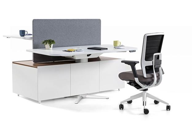 Bureau assis debout mobilier de bureau nwow burama for Bureau assis