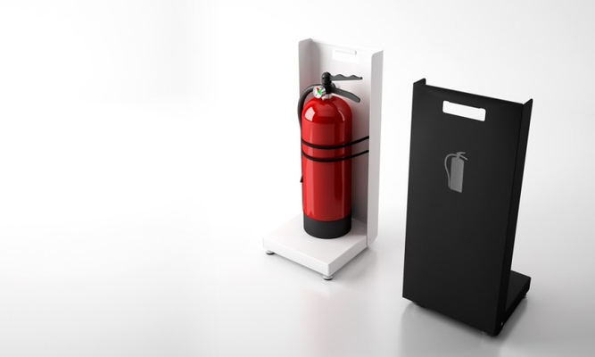 Extinguisher supports